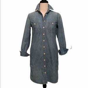 J. Crew | chambray denim shirt dress